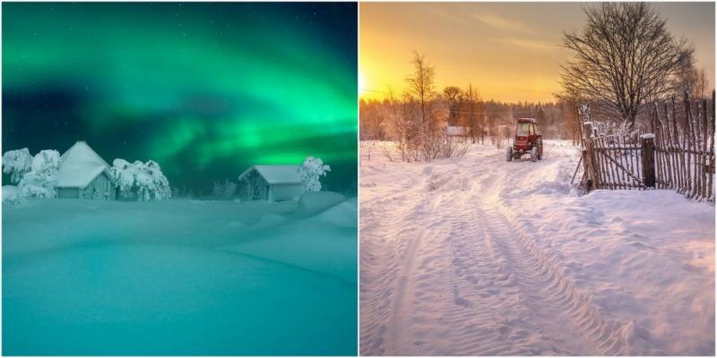 Зимняя сказка на снимках Андрея Базанова - «Хорошее настроение»