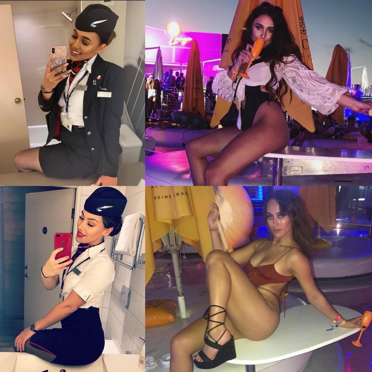 Сексуальные стюардессы в униформе и без неё - «Хорошее настроение»