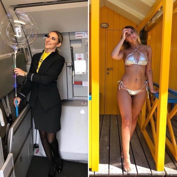 Девушки-стюардессы (24 фото)