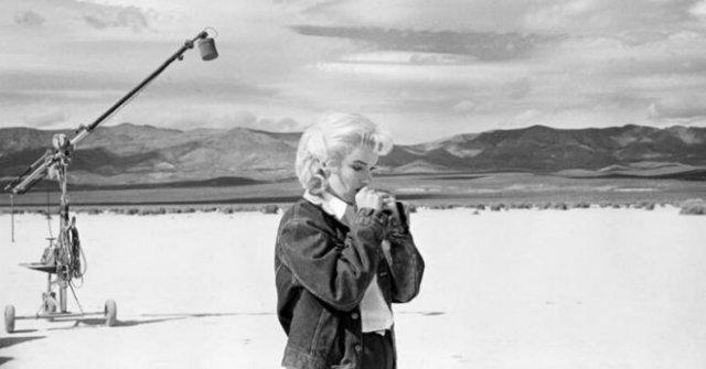 Мерилин Монро на съемках своего последнего фильма - «Хорошее настроение»