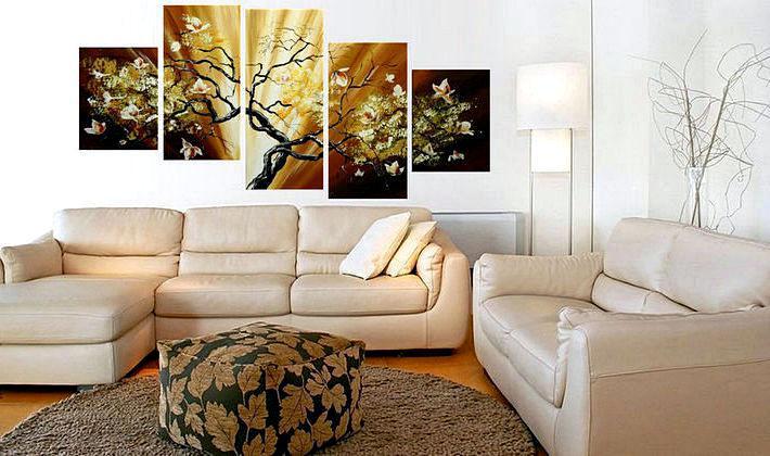 Картины в интерьере: почему стоит украшать ими помещение - «Фото»