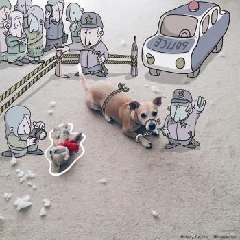 Смешные рисунки к случайным фотографиям (10 фото) - «Хорошее настроение»
