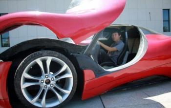 Китаец построил собственный футуристический суперкар за 4800 баксов (8 фото) - «Хорошее настроение»
