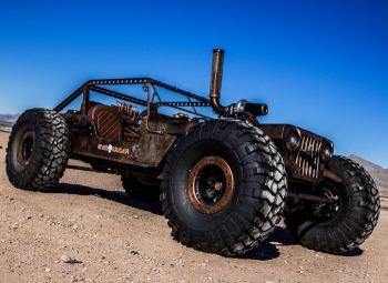 Постапокалиптический хот-род на базе Jeep Willy 1947 года - «Хорошее настроение»