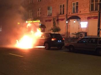 Сгорел автомобиль главы Всероссийского Объединения болельщиков (4 фото) - «Хорошее настроение»