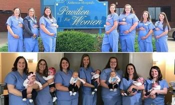 Бэби-бум: сразу семь акушерок из одного отделения больницы стали мамами (10фото)