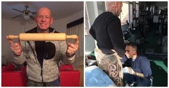 61-летний бодибилдер намотал свой пенис вокруг скалки, чтобы сделать на нём татуировку (5фото+1видео)