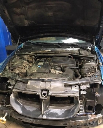 Автомобиль BMW, с которого не снимался передний бампер - «Хорошее настроение»