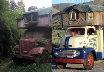 Необычная эстетика домов-грузовиков - «Хорошее настроение»