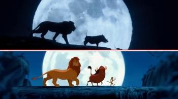 Мультфильм Король Лев тогда и сейчас (8 гифок)