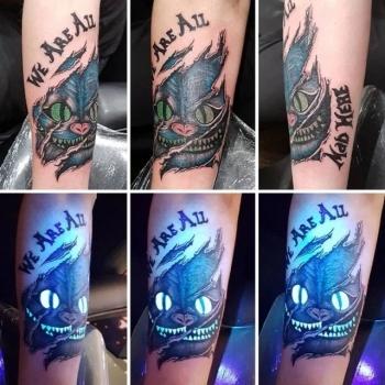 Необычные люминесцентные тату - «Хорошее настроение»