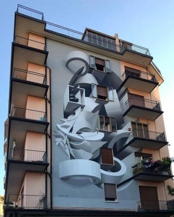 3D-граффити и потрясающий стрит-арт - «Хорошее настроение»