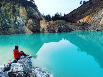 Озеро Монте Неме - токсичная достопримечательность Испании (12 фото)