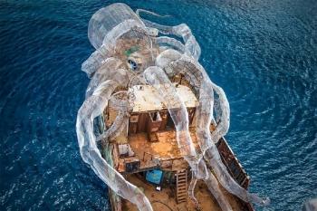 Стальной осьминог стал коралловым рифом (22фото)