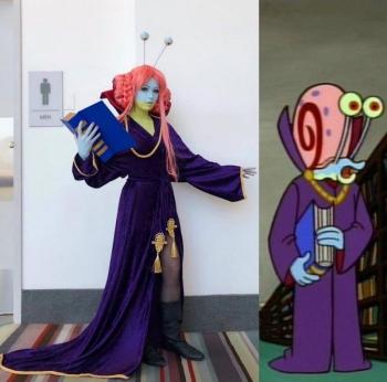 Девушка косплеит персонажей Губки Боба (7 фото)