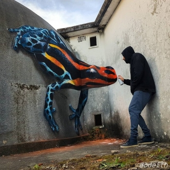 Объемный стрит-арт от португальского художника (22 фото)