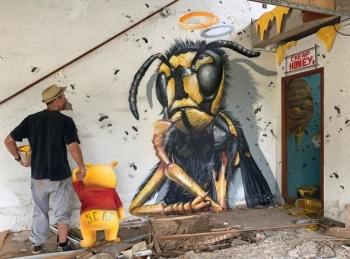 Удивительные граффити от французского мастера - «Хорошее настроение»