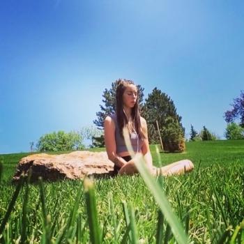 25-летняя солнцеедка из США - «Хорошее настроение»