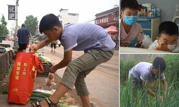 Мальчик выращивает и продает лук, чтобы спасти младшего брата (4фото+1видео)