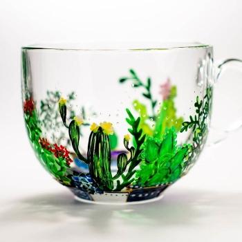Художница из Украины волшебно расписывает стеклянную посуду - «Хорошее настроение»