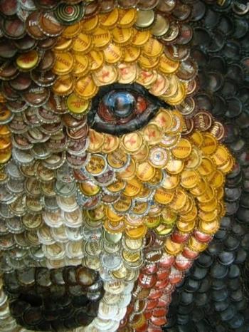 Идея: что делать с крышечками от пивных бутылок?