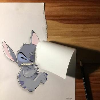 Классные 3D рисунки на бумаге (30 фото)