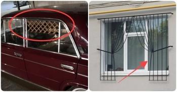 Решётки на окнах с необычным дизайном - «Хорошее настроение»