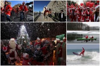 Санта-Клаусы и Деды Морозы шагают по планете - «Хорошее настроение»
